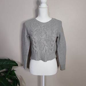 Eileen Fisher Cable Knit Crop Sweater Small
